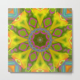 Abstract Flower AAA R Metal Print