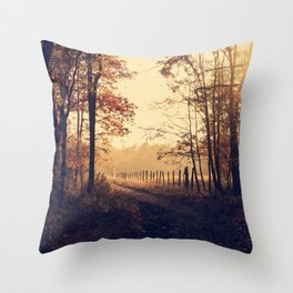 Golden Hour Forest (Color) Throw Pillow