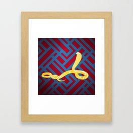 Art Deco Snake Framed Art Print