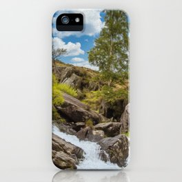 Idwal Waterfall  iPhone Case