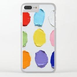 Polka Daub Slabs Clear iPhone Case