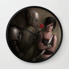 Robot In Love Wall Clock