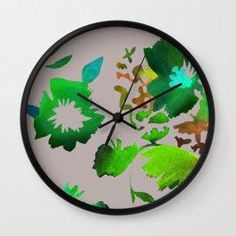 Dark Flora Wall Clock