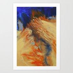 Burning River Art Print