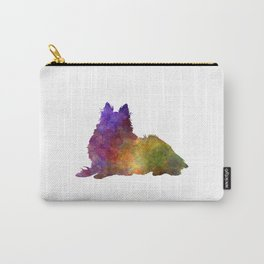 Long Haired Collie in watercolor Carry-All Pouch
