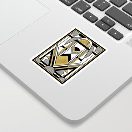 Up and Away - Art Deco Spaceman Sticker