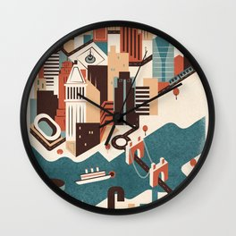 A Day in Downtown Cincy Wall Clock