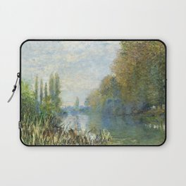 The Banks of The Seine in Autumn by Claude Monet Laptop Sleeve