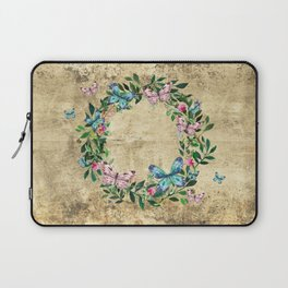Wreath #Flowers & Butterflies#Royal collection Laptop Sleeve