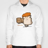 bread Hoodies featuring Ginger Bread by BinaryGod.com