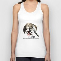 hunting Tank Tops featuring Hunting foxes by Design4u Studio