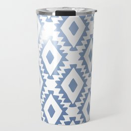 Aztec geometrics - chambray Travel Mug