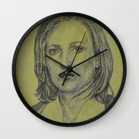 dana scully Wall Clocks featuring Scully by Jenn