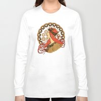 nouveau Long Sleeve T-shirts featuring Steampunk Nouveau by Nana Leonti