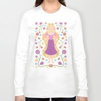 rapunzel Long Sleeve T-shirts featuring Rapunzel by Carly Watts