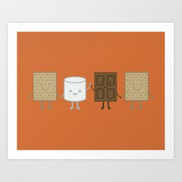 Life is S'more Fun Together Art Print