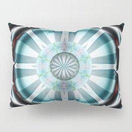 Pinwheel Hubcap in Aqua Pillow Sham