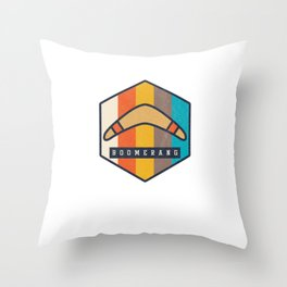 Boomerang Vintage Sports Competitive Sports Wind Game Athletic Gifts Throw Pillow