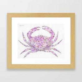 Floral Crab  Framed Art Print
