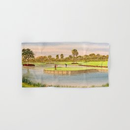 Sawgrass Golf Course 17th Green Putting Out Hand & Bath Towel