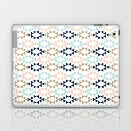 Aztec - Geometric tribal pattern in navy, gold glitter, pink, and blush Laptop & iPad Skin