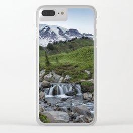 Edith Creek and Mount Rainier Clear iPhone Case