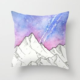 Mountains in the Evening Throw Pillow