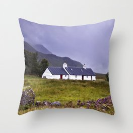 The Cottage in the Glen II Throw Pillow