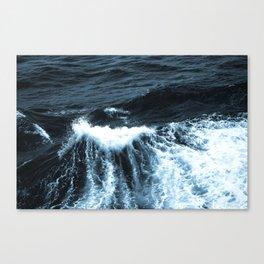 Dark Sea Waves Canvas Print