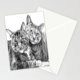 Arya and Dante portrait Stationery Cards