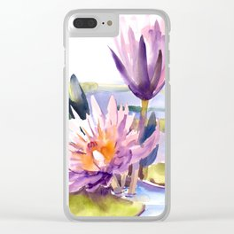 Water Lily,  Lotus Clear iPhone Case