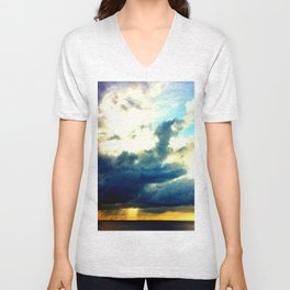 sunrise on mistic island Unisex V-Neck