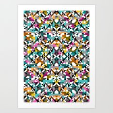 Aztec Geometric Reflection II Art Print