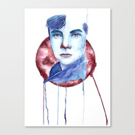 Cold-Blooded Watercolor Painting Canvas Print