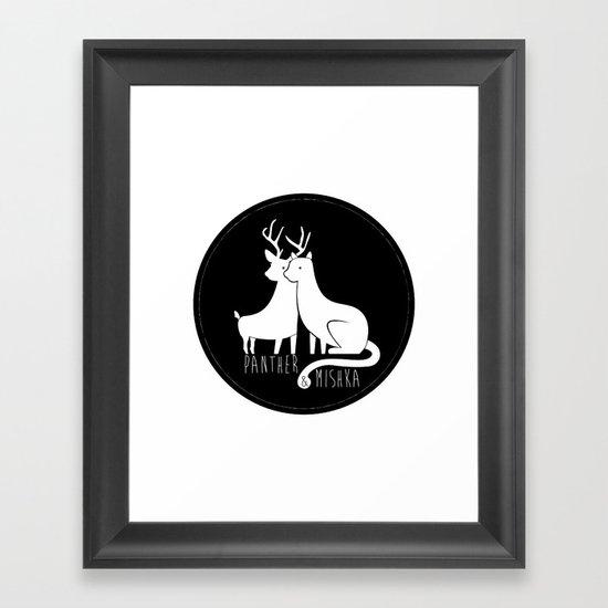 Panther & Mishka Framed Art Print