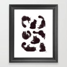 Bunch of cats Framed Art Print