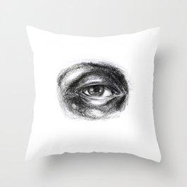 Eye study sketch 1 Throw Pillow