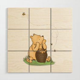 Classic Pooh with Honey - No background Wood Wall Art
