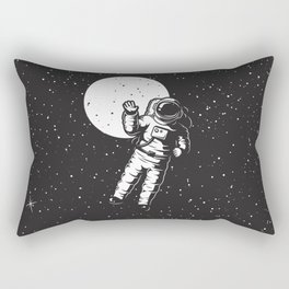 astrounout to the space black Rectangular Pillow