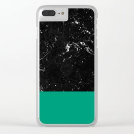 Emerald Meets Black Marble #1 #decor #art #society6 Clear iPhone Case