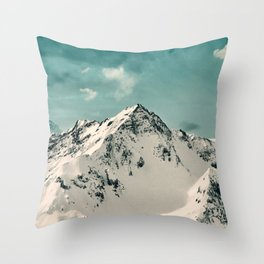 Snow Peak Throw Pillow
