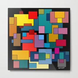 Color Blocks #4A Metal Print