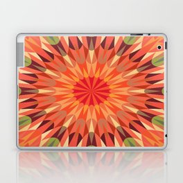 Peach Retro Geometry Earth Tones Laptop & iPad Skin