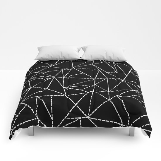 Ab Dotted Lines   Comforters