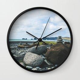 Coastal Stacks Wall Clock