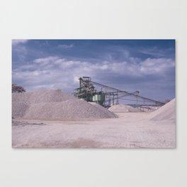 DE - Gravel processing plant Rißtissen Germany Canvas Print