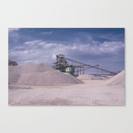 DE - Gravel processing plant Rißtissen Germany Canvas Print