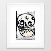 calavera Framed Art Prints featuring Calavera by Happy Tao