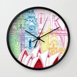 Sydney Towers Wall Clock