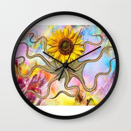 octoflower Wall Clock